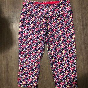 Victoria secret cropped colourful leggings